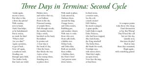 Three Days in Termina - Two by Liefesa