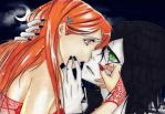 Ulquiorra and Orihime by jessally