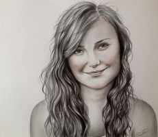 Drawing of Lesya by chesnutflower