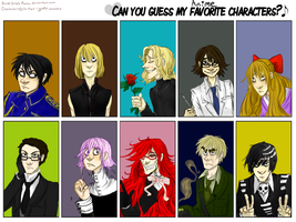 Favourite Anime Characters by Simply-Psycho