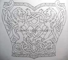 Celtic Lions tattoo design1 by Tattoo-Design