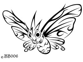 #049: Tribal Venomoth by blackbutterfly006