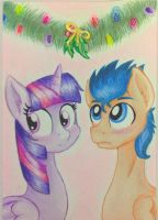 Twilight Sparkle and Flash  Sentry by NicoleTheBluePony