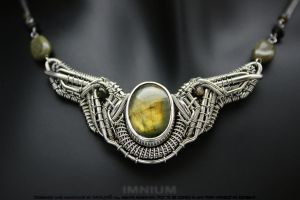 Winged Sun necklace v2.0b by IMNIUM