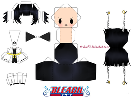 Soi Fon Papercraft Template by Mi-Chan97