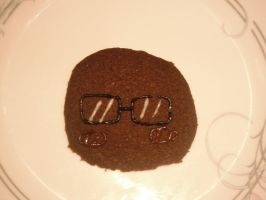 Minion One: Glasses Cookie by SupremelyEvilCookie