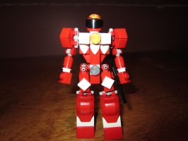 Red Power Ranger in LEGO by AndiusMaximus