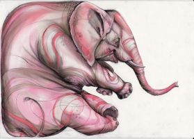 Pink Elephant by Artjunk