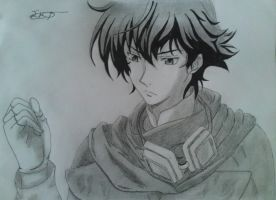 Setsuna F. Seiei's Drawing by StefanosDTsougranis