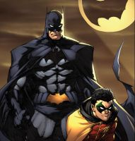 Greg Capullo Batman and Robin by juan7fernandez