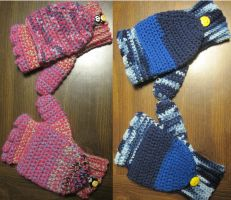 Crocheted gloves by coincollect408