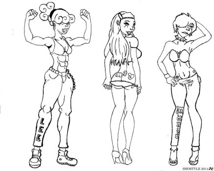 Kankers Little Girls Inks by ShoStyle
