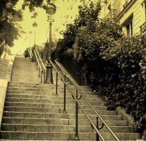 Les escaliers de Montmartre by augresduvent