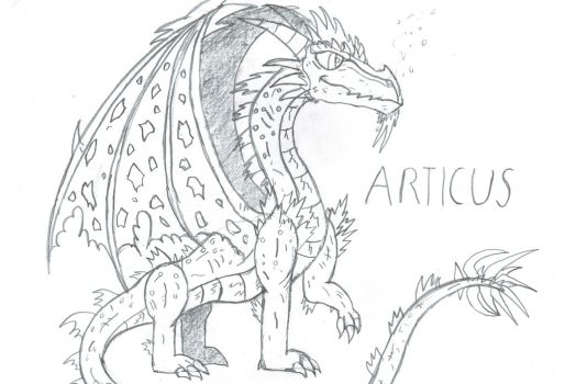 Arcticus ice dragon by Viperwings