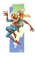 Spidey and MJ by CeeCeeLuvins
