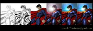 tutorial painting superman by brutality84