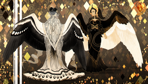 Queens of Silver and Gold by Blue-Hearts