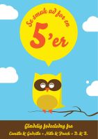 Owl birthday card by Bendsen