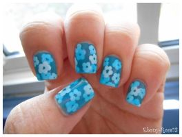 Flower Pond Nails by Ebony-Rose13