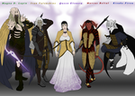 Pathfinder - The Queen and her Knights by EjLizardbreath