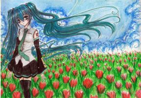 With the wind by Riz--cHaN