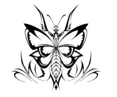 Tribal Praying Mantis Design by ShadowKira