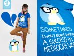 mediocre world penguin shirt by Bobsmade