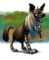 Brown Hyena - CritterJam by AstroZerk