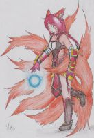 Foxfire Ahri by Dragon-Wish