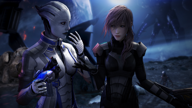 Same Voices? - Lightning and Liara by andersoncathy