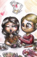 Hannibal chibis - Alana and Hannibal by FuriarossaAndMimma