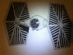 TIE Fighter Pointillism by SevenSpy
