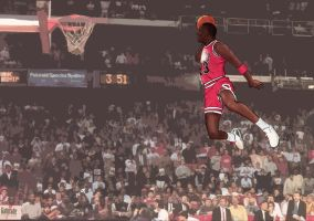 '88 Jordan Leapin' From The Free Throw by pCgvrtx