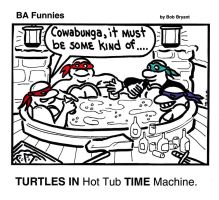 BA Funnies - Turtles in Time by cheesebugs