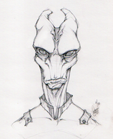 The very model of a soldier salarian by Megume