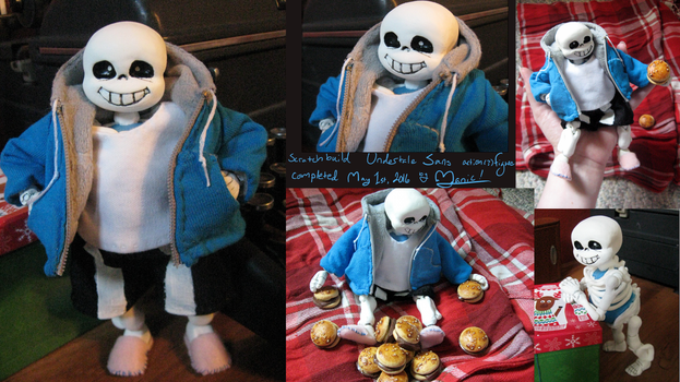 Undertale Sans Scratch-Built Figure/Doll-thing by ManicDraconis