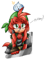 Red: The Lone Echidna Engineer, my style by DragonQuestHero