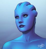 Liara T'Soni Portrait by pineappletree