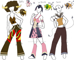 Pokemon Gijinkas- the Bovines by Brodys-Babe
