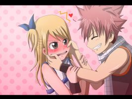 Natsu and Lucy by ichata