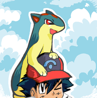 Cyndaquil Evolved by MysticNightWolf