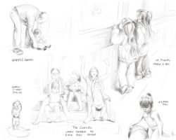 Sketches - Childhood II by mynti