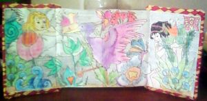 illustrated accordion book by meeah535