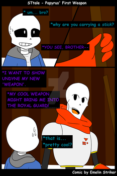 STtale - Papyrus' First Weapon by GirlGamer121