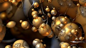 Gold Beads by HalTenny