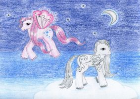 Twinkle Star and Silver Swirl by NormaLeeInsane
