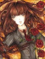 Sora and roses :Redone: by Giname