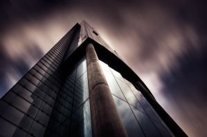 Urban skies III by mitchorr