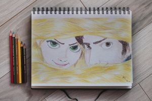 Tangled drawing by martiinej