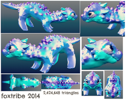 Virt the 3D dragon by foxtribe